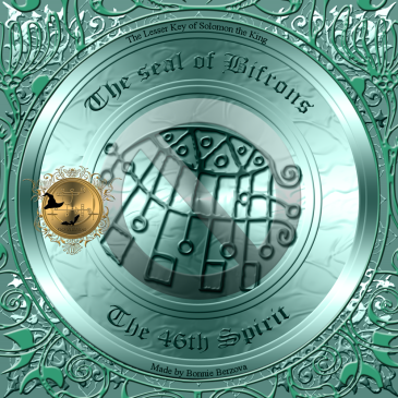 Demonen Bifrons är beskriven i Goetia och detta är hans sigill. Häxkonst och magi.