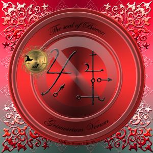 Demon Bucon wird im Grimorium Verum beschrieben und dies ist sein Siegel.
