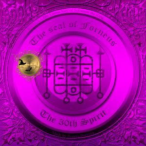 Demonen Forneus finns beskriven i Goetia och detta är hans sigill.
