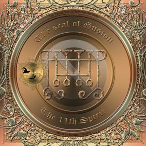 Demonen Gusion beskrivs i Goetia och detta är hans sigill. Häxkonst och magi.