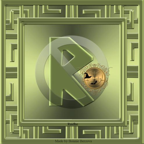 Det här är runan Raidho. Häxkonst och magi.