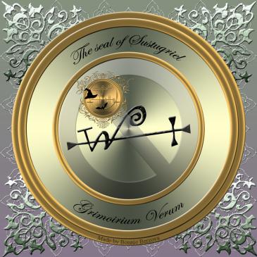 Demonen Sustugriel beskrivs i Grimorium Verum och detta är hans sigill. Häxkonst och magi.