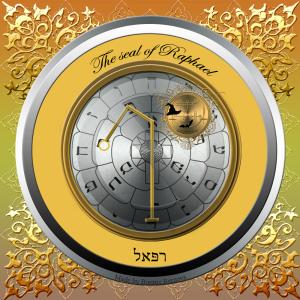 Dies ist das Siegel des Erzengels Raphael, des Herrschers von Tiphareth.