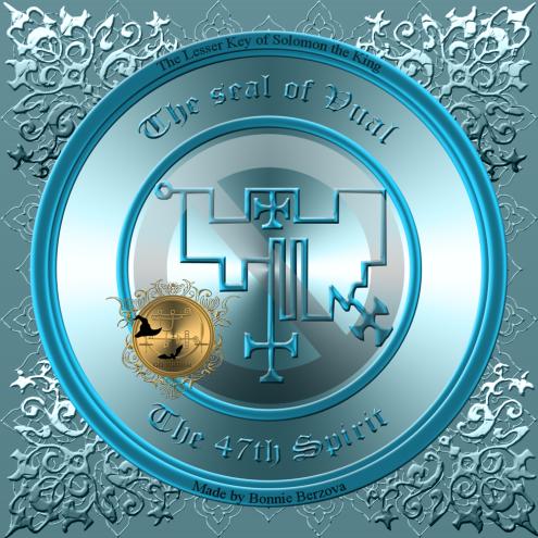 Demonen Uvall (Vual) är beskriven i Goetia och detta är hans sigill. Häxkonst och magi.