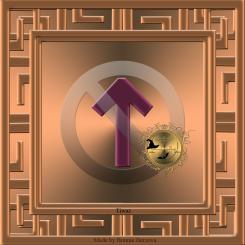 Det här är runan Tiwaz. Häxkonst och magi.