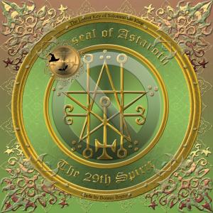 惡魔Astaroth在Goetia中有描述,這是他的印章。