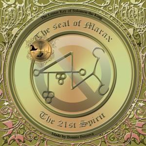 Dämon Marax wird in der Goetia beschrieben und dies ist sein Siegel.