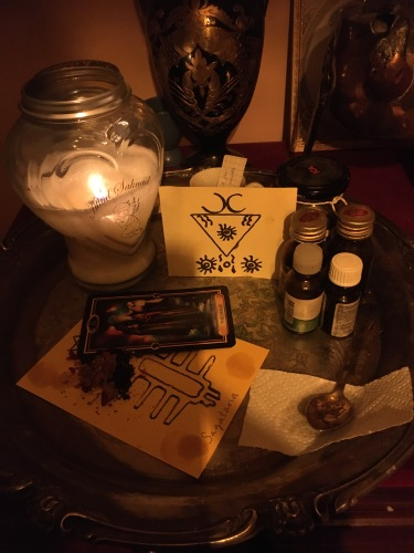 Dies ist ein Bild von einem meiner Rituale mit Sagatana.