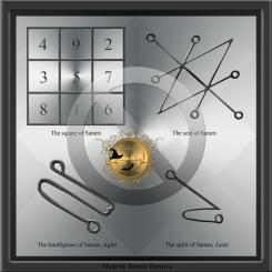 Saturn planetary talisman