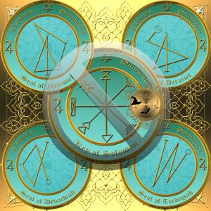 這是來自Solomon的Key的木星的第一個pentacle。