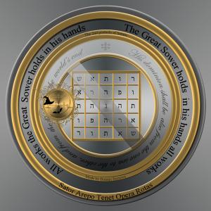 이것은 토성의 두 번째 pentacle입니다(히브리어 텍스트).