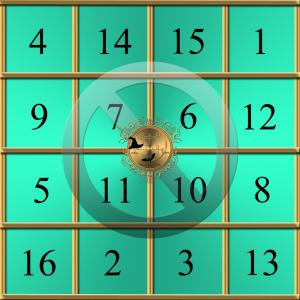 Detta är Jupiters numeriska kvadrat.