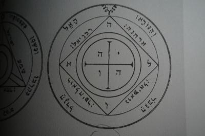 Clavicula Salomonisからの土星の5番目のpentacleは、他の土星の精霊を召喚している間、あなたを保護します。