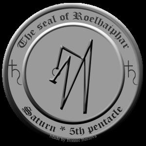 これは、Clavicula SalomonisのRoelhaiphar(土星の5番目のpentacle)の印章です。